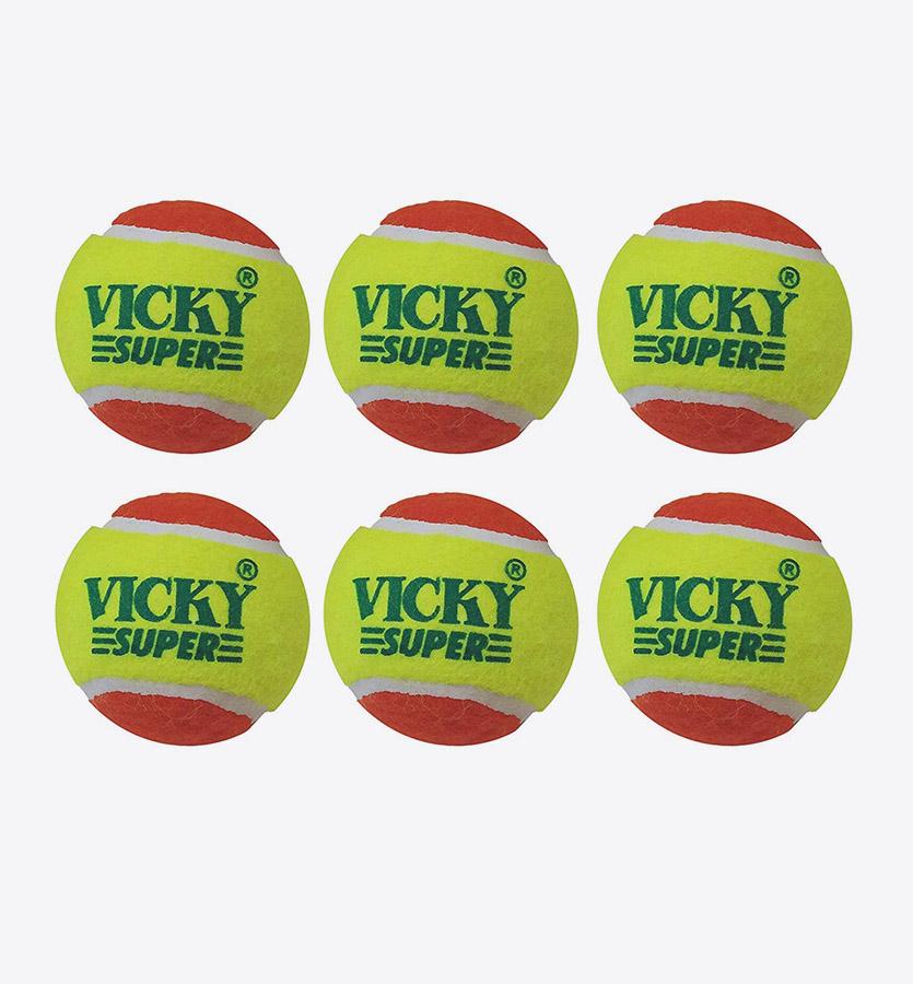 6 Pack Hard Tennis Cricket Ball SG ICON